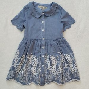 Floral Denim Dress, 4T